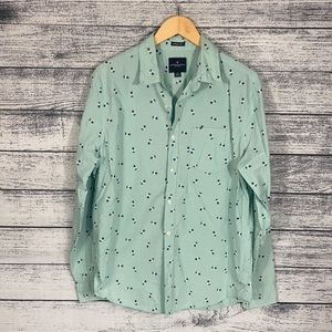 American Eagle Seriously Soft Pineapple Button Up